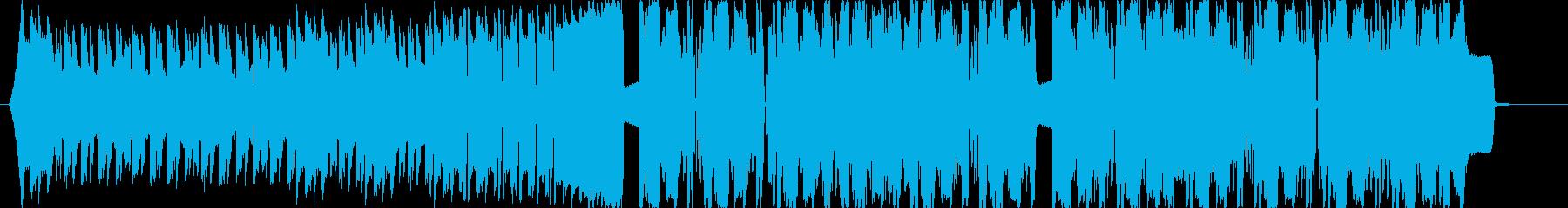 モンスターをイメージしたダブステップの再生済みの波形