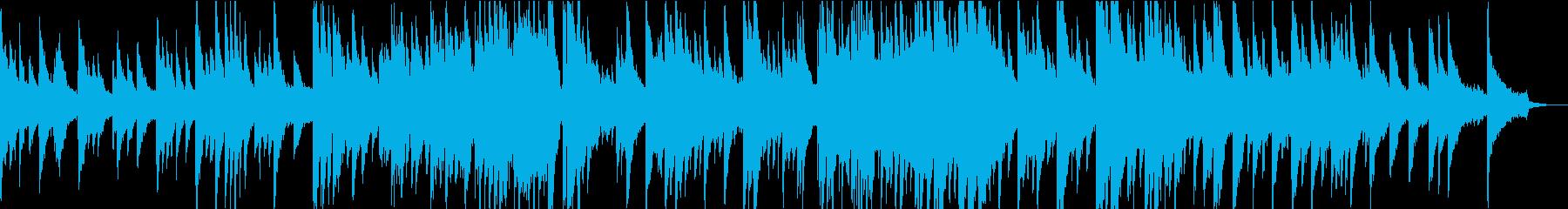 ピアノとパッドのゆったり和風曲の再生済みの波形