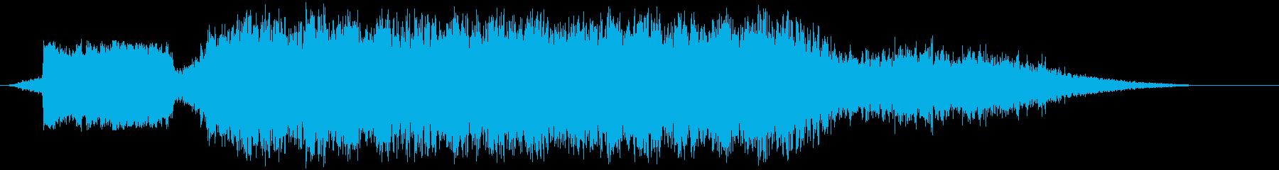 電車17到着の再生済みの波形