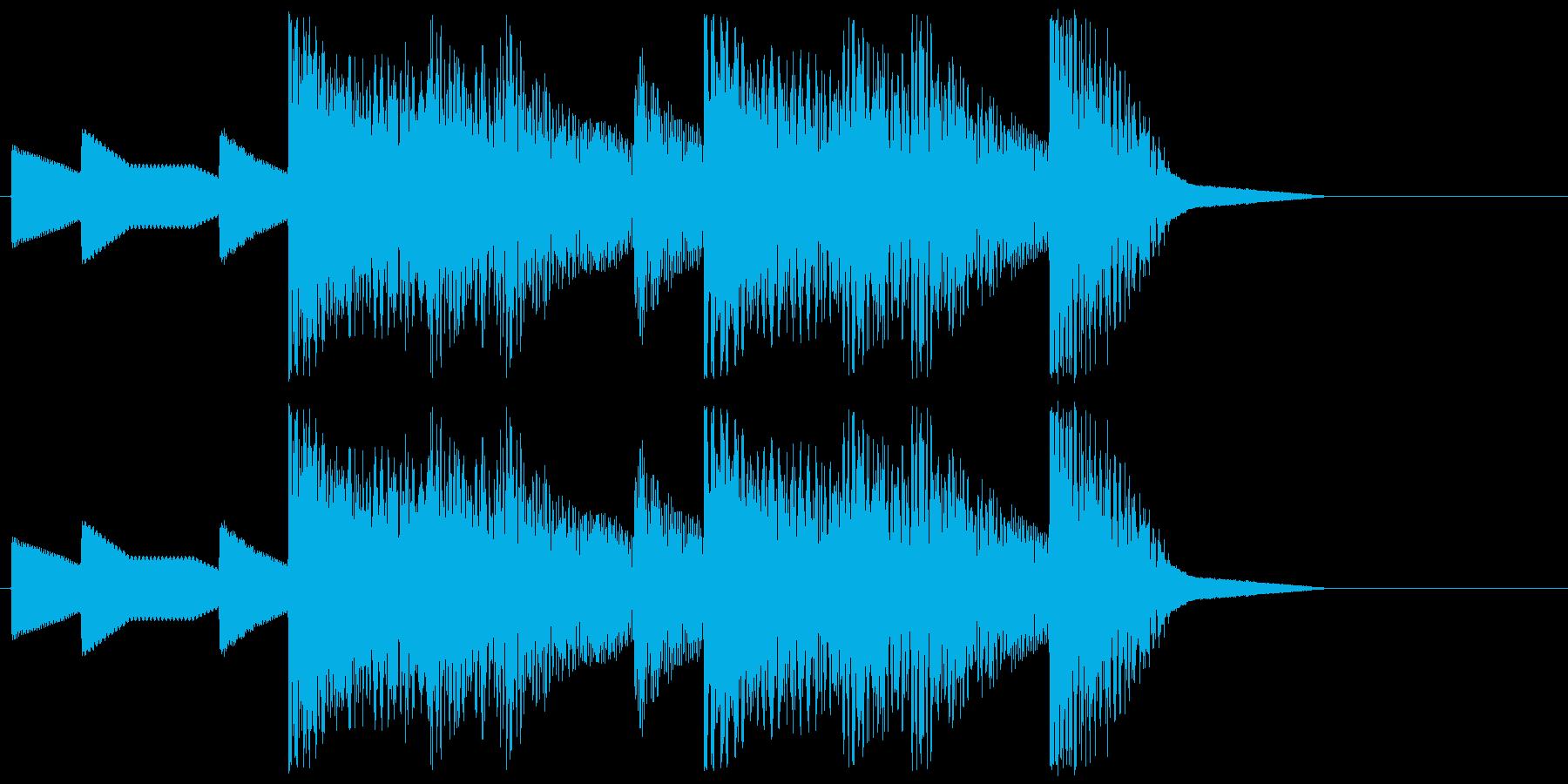 8bitジングル#5スタート&クリアの再生済みの波形