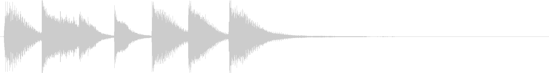 ピアノジングル 幼児向けアニメ系J-03の未再生の波形