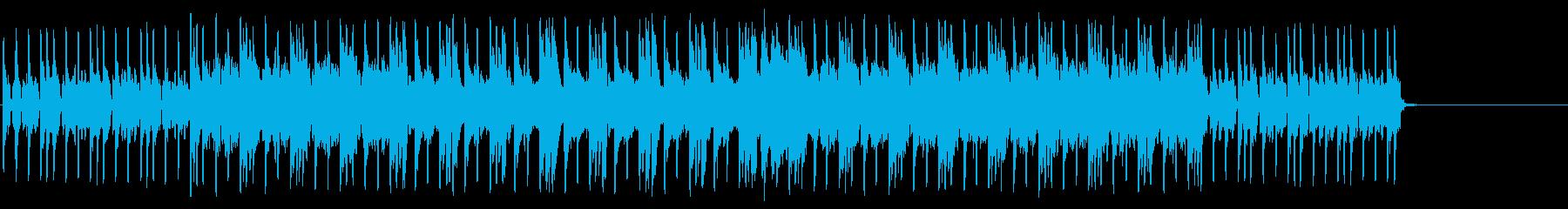 機械的なディスコ風のテクノ・ポップの再生済みの波形
