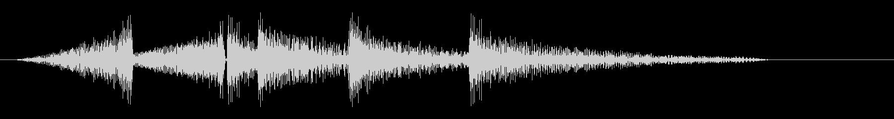 キュキュキュ(鳴き声系)の未再生の波形
