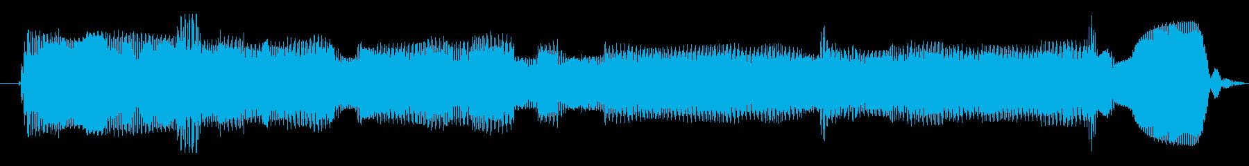 シンセサイザー 科学エイリアン01の再生済みの波形