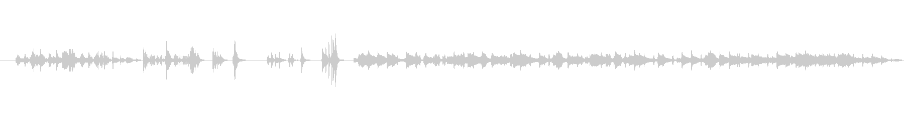 ミステリアスで独特なメロディーの未再生の波形