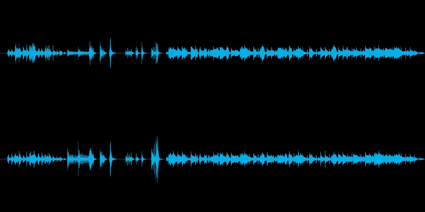 ミステリアスで独特なメロディーの再生済みの波形