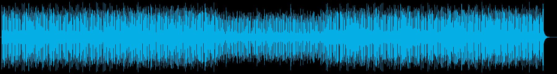 明るくおしゃれなシンセサイザーサウンドの再生済みの波形