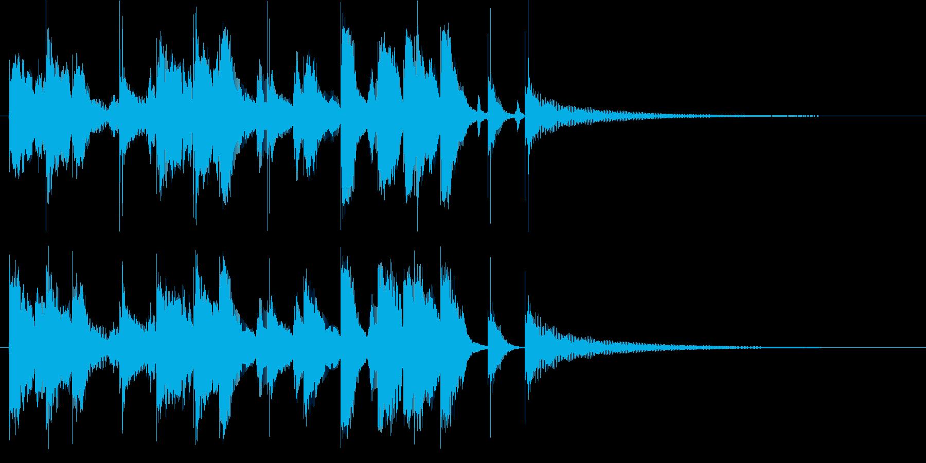陽気で穏やかな口笛メロディのロゴ♪の再生済みの波形