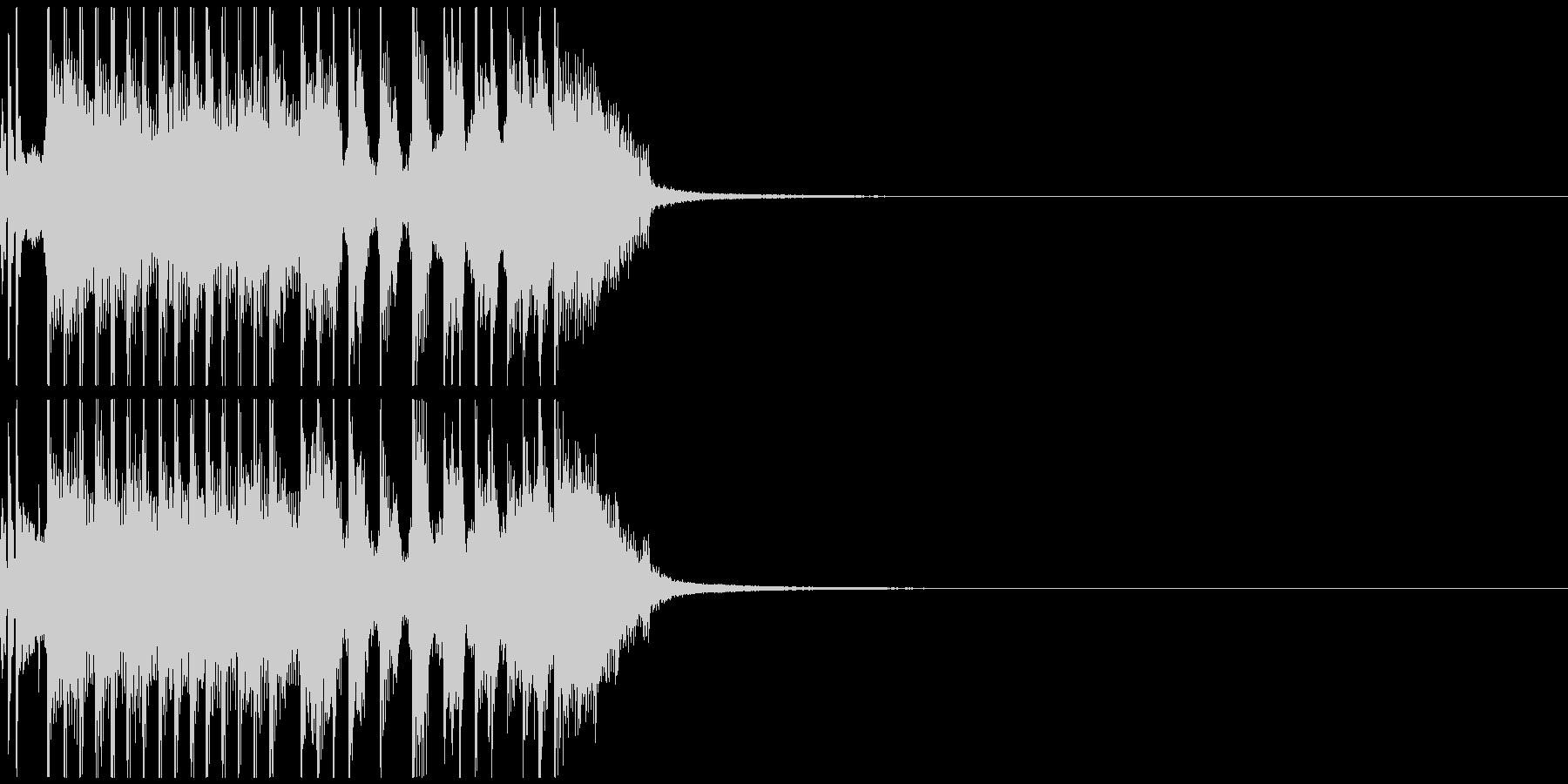テンション高めのジングル、バンドサウンドの未再生の波形
