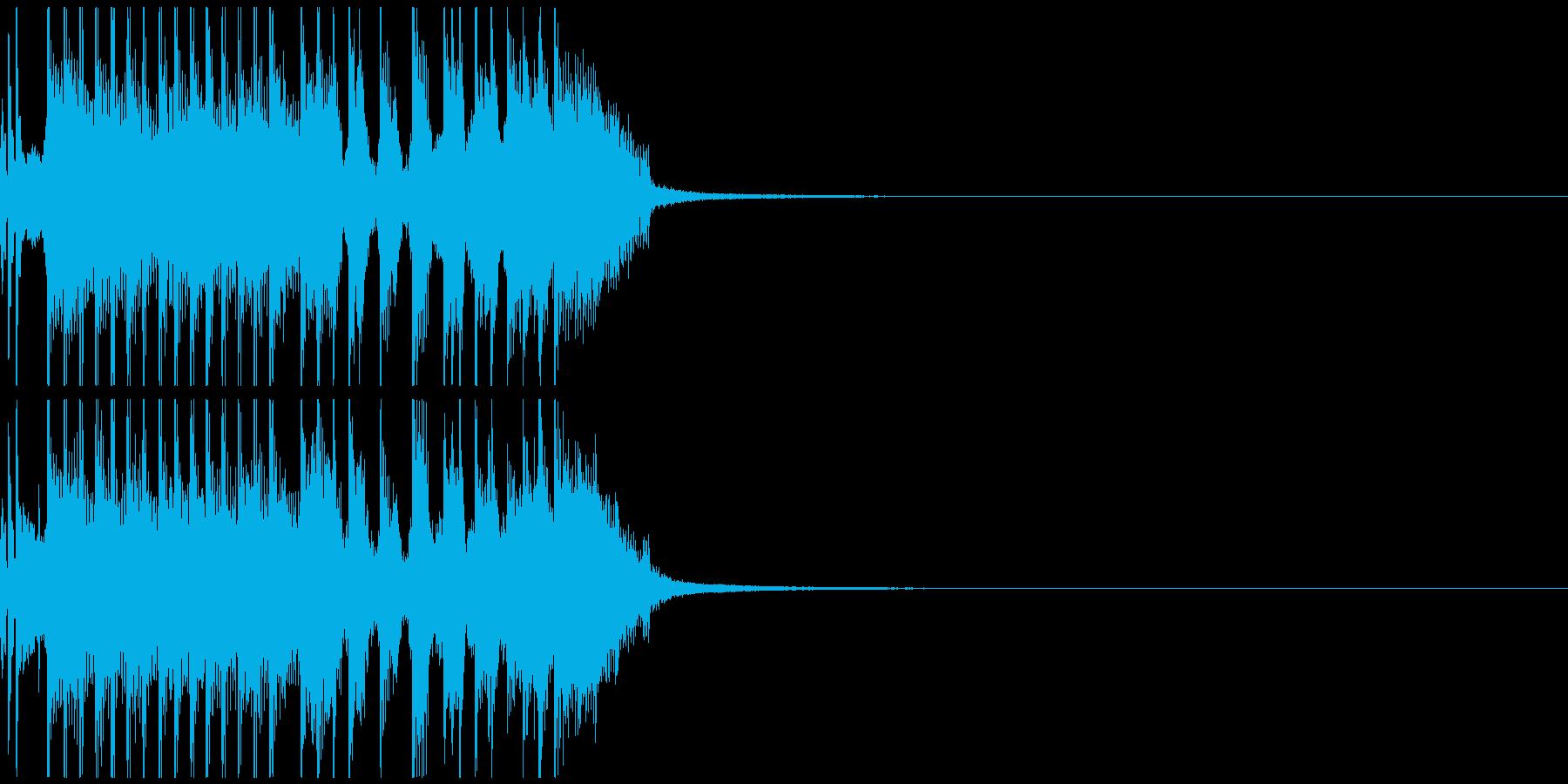 テンション高めのジングル、バンドサウンドの再生済みの波形