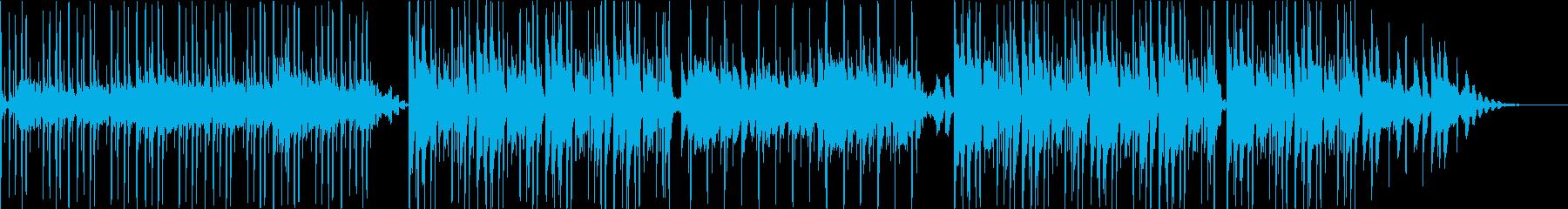 HipHopグルーヴのゆったりエレクトロの再生済みの波形