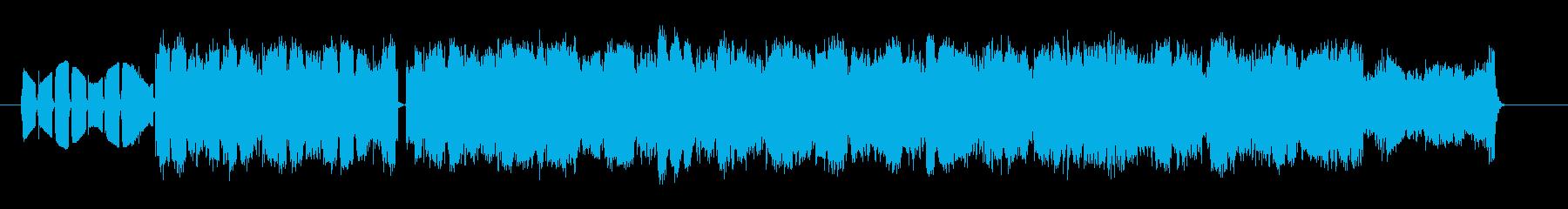 シリアスでドキドキ感のシンセサウンドの再生済みの波形