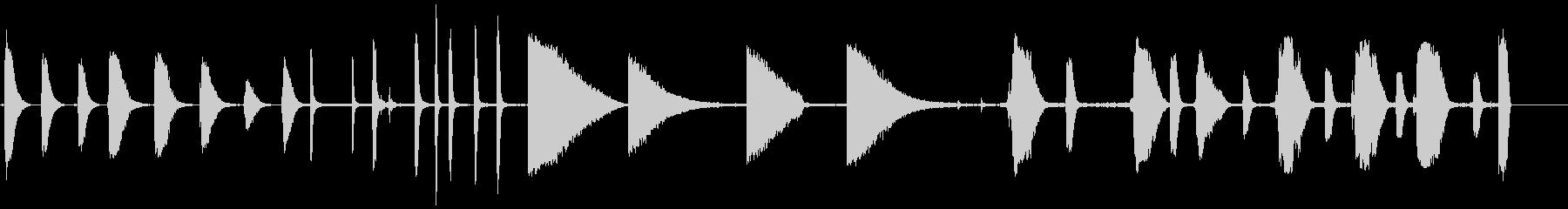 産業用エアブラストの未再生の波形