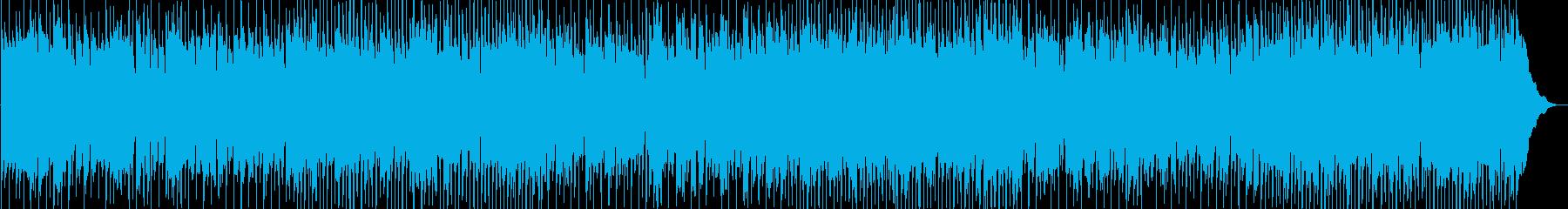 軽快なカントリーロックBGMの再生済みの波形