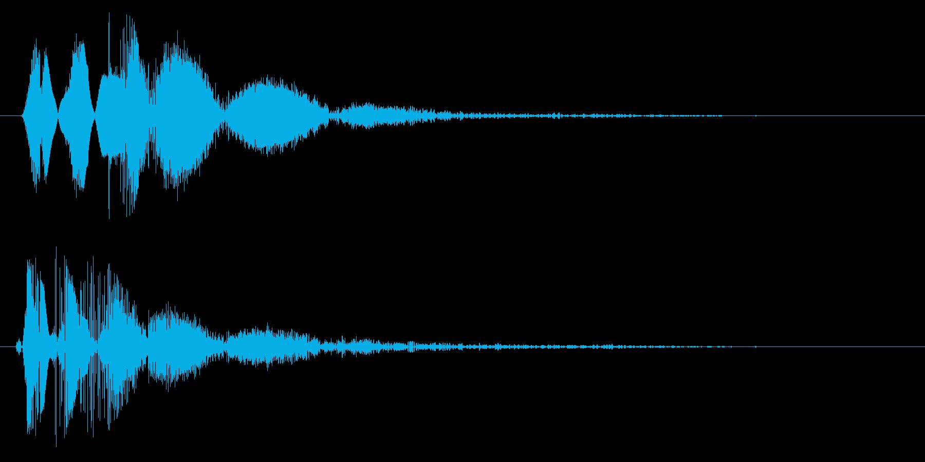 バンッ(風船の破裂音)の再生済みの波形
