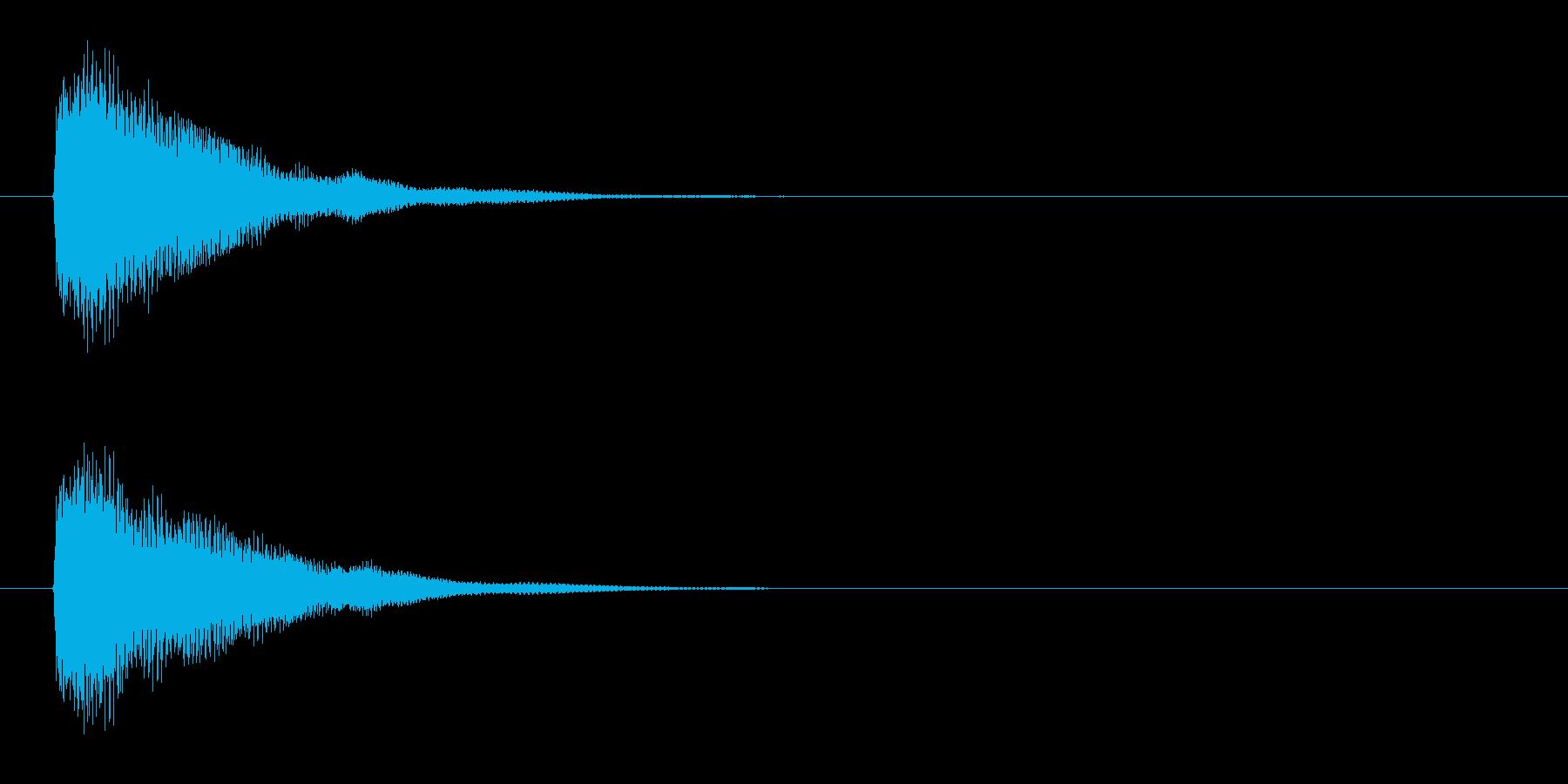 アプリ・ゲームの決定音_014の再生済みの波形