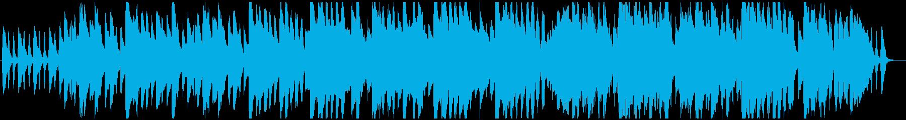 ゆったりとしたファンタジー系ワルツ曲の再生済みの波形