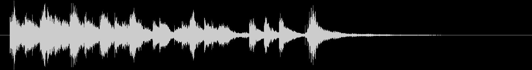 可愛らしいジングル、アイキャッチ 04の未再生の波形