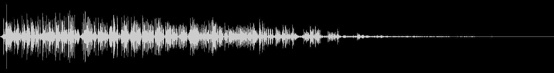 ビシッ! レトロゲーム風 ダメージ音の未再生の波形