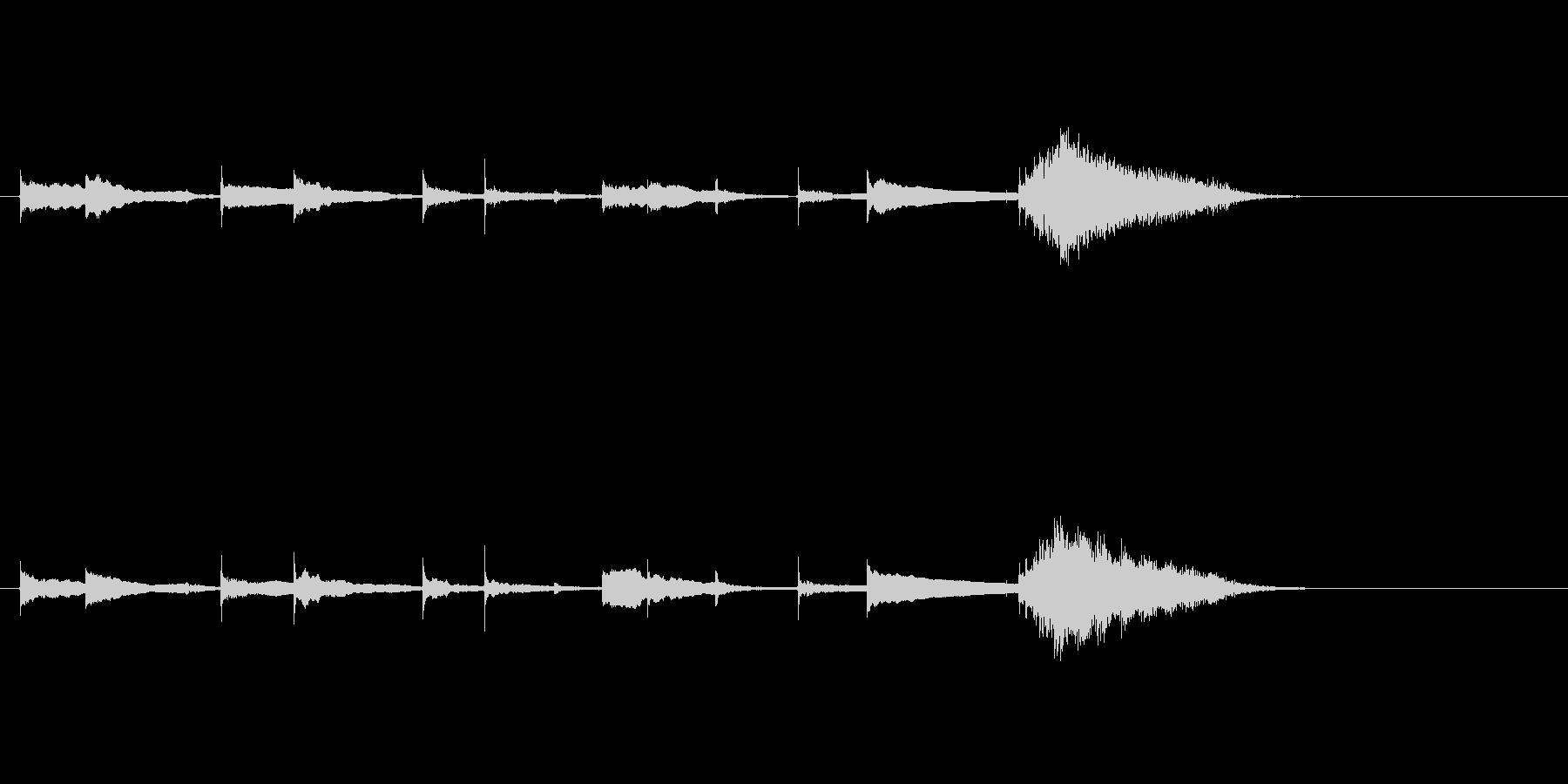 生音エレキギターチューニング リバーブの未再生の波形