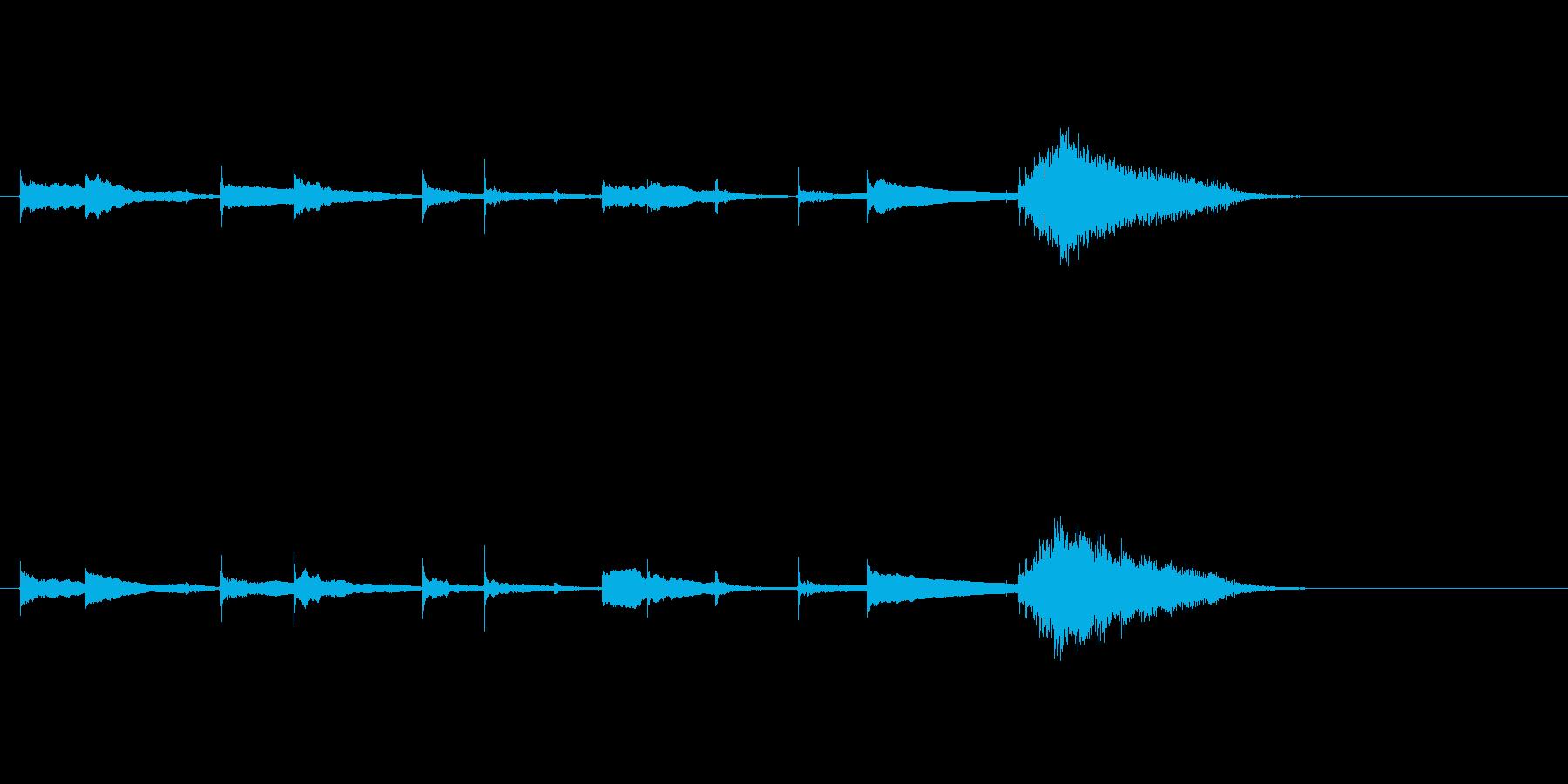 生音エレキギターチューニング リバーブの再生済みの波形