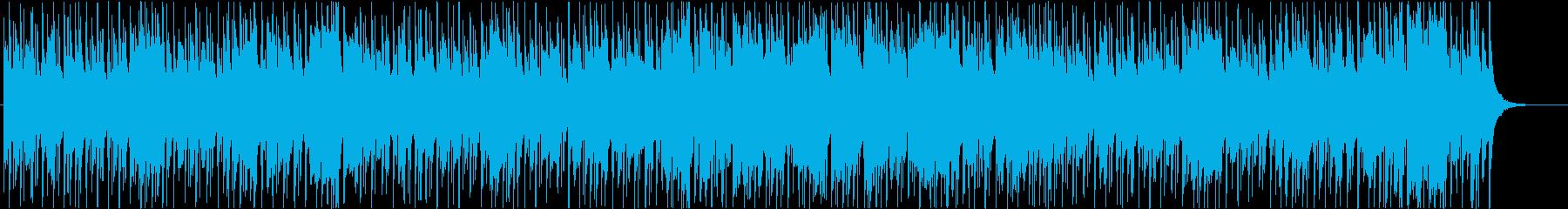 穏やかで楽しい雰囲気のBGMの再生済みの波形