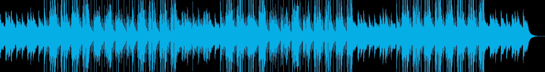 ダークな洋楽トラップビートの再生済みの波形