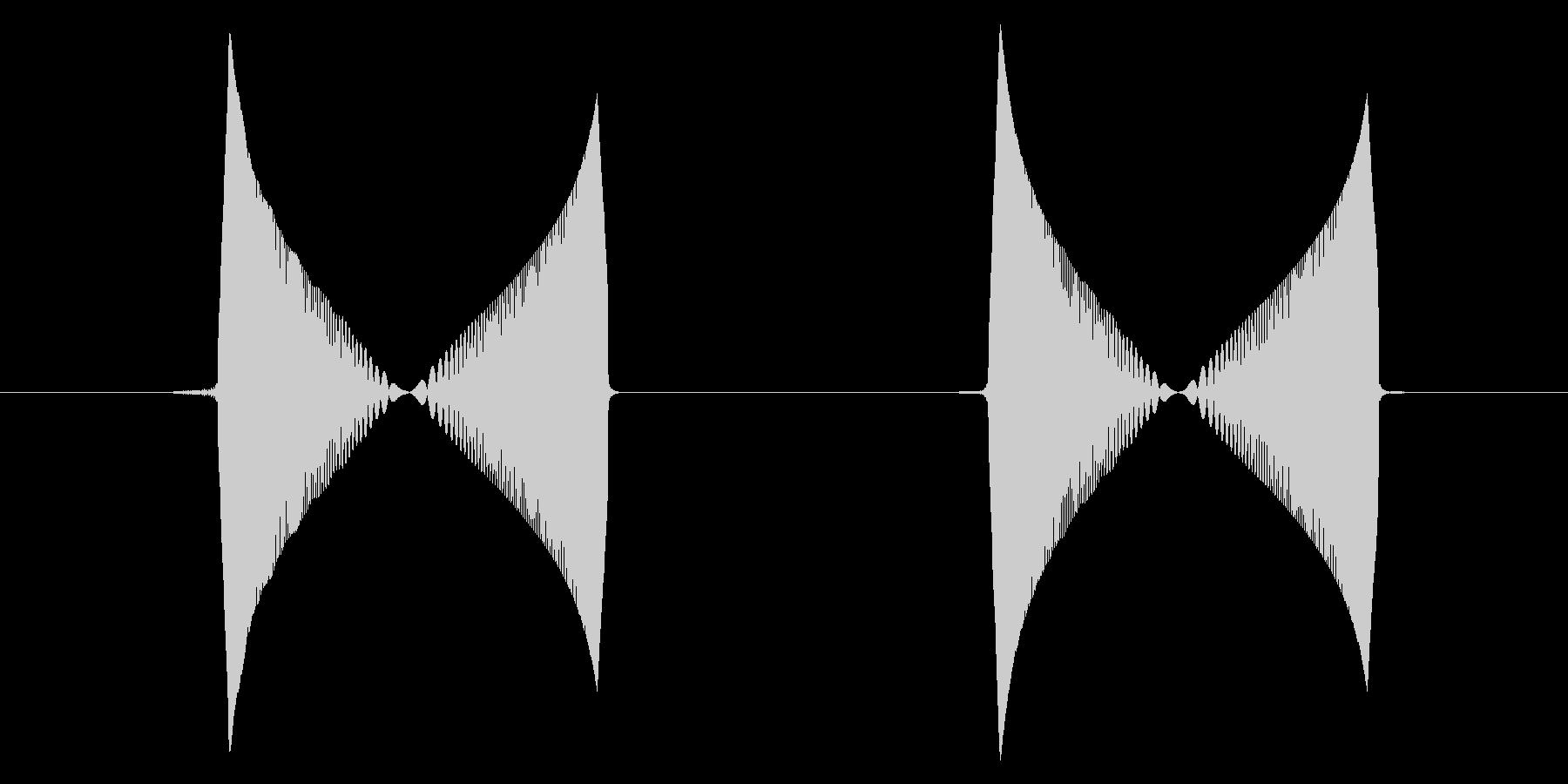 つんつん・ぱちくり(動作音2回)の未再生の波形