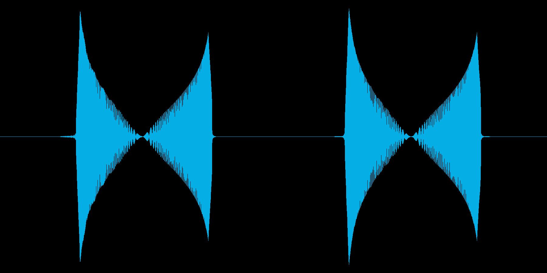 つんつん・ぱちくり(動作音2回)の再生済みの波形