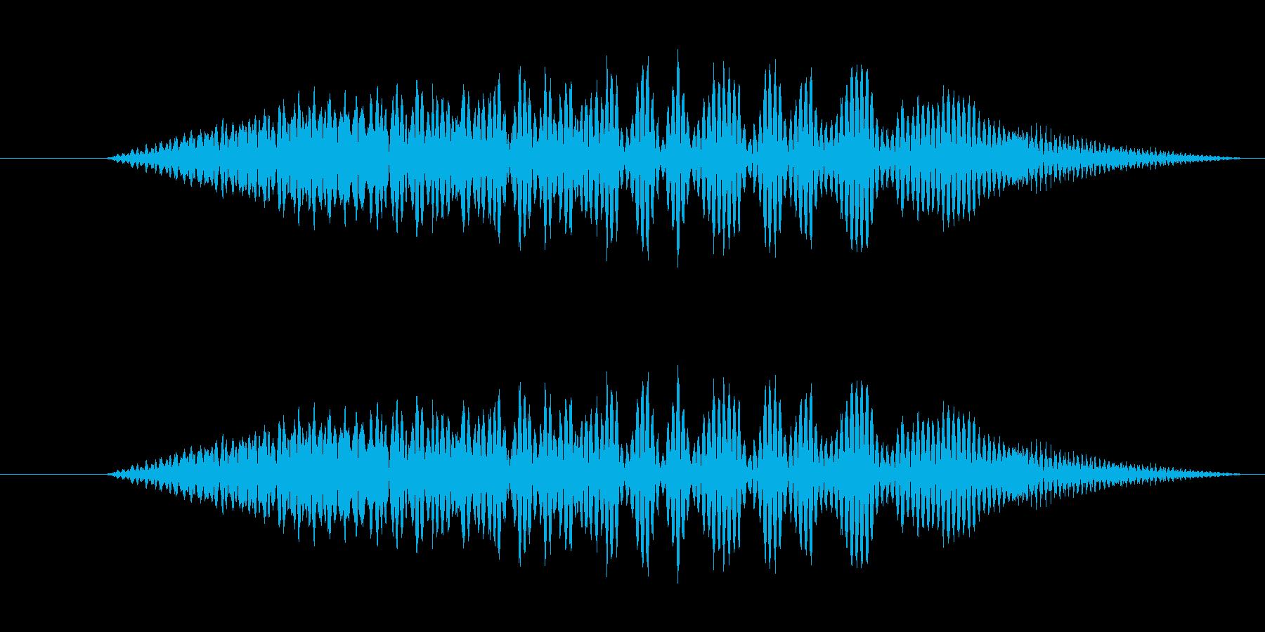 特撮 インターフェイススイープ05の再生済みの波形