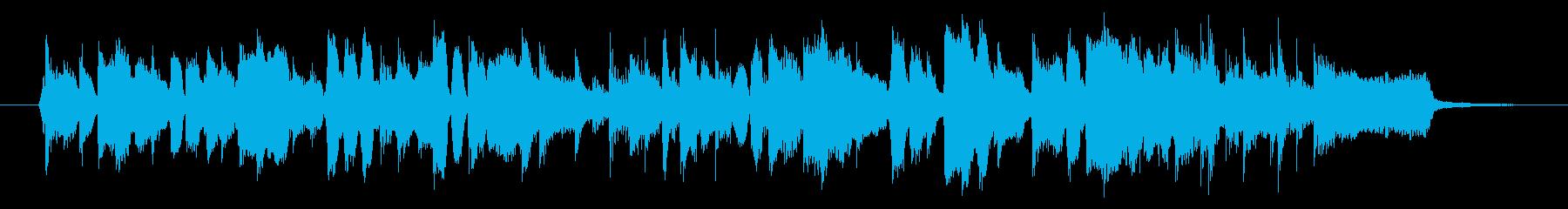ハーモニカ生演奏ほのぼのライトロックの再生済みの波形