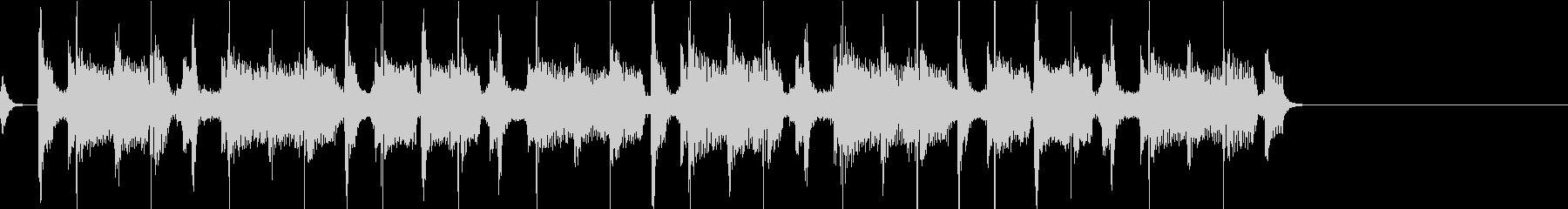 昔のロック風BGM  ジングル1の未再生の波形