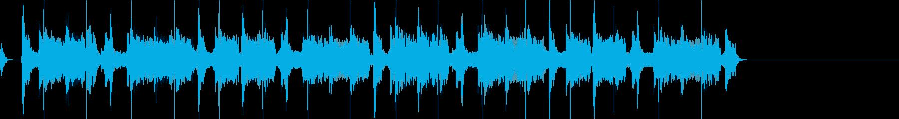 昔のロック風BGM  ジングル1の再生済みの波形
