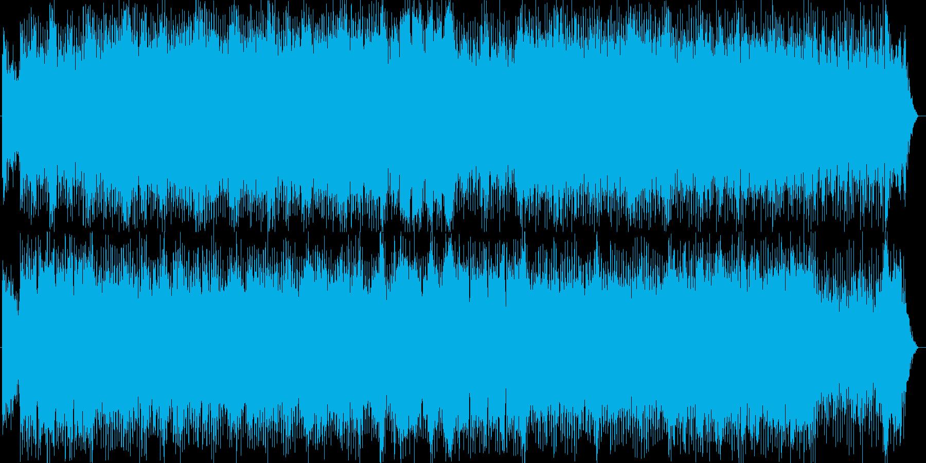 宇宙感のシンセサイザーなどのサウンドの再生済みの波形