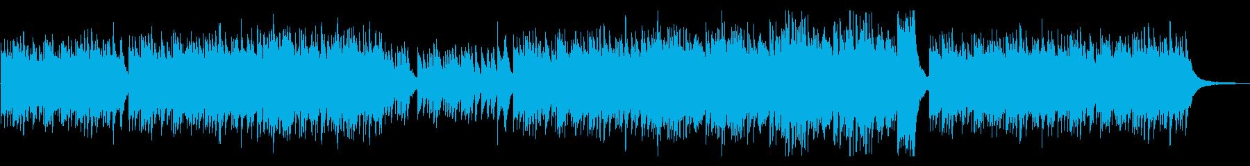 美しいく明るいメロディのピアノ 曲の再生済みの波形