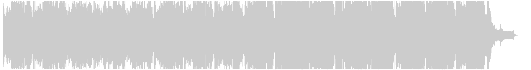 シンセ音のアルペジオが印象的なBGMの未再生の波形