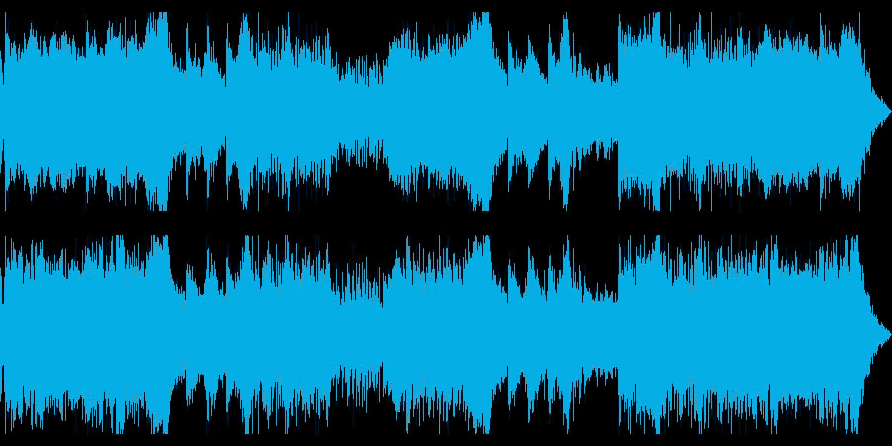 ファンタジー_勇ましく壮大なオーケストラの再生済みの波形