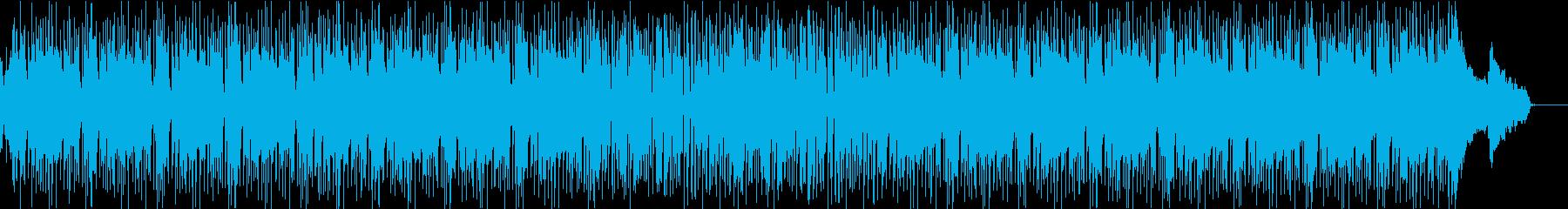 格闘ゲームのキャラクター選択画面風楽曲の再生済みの波形