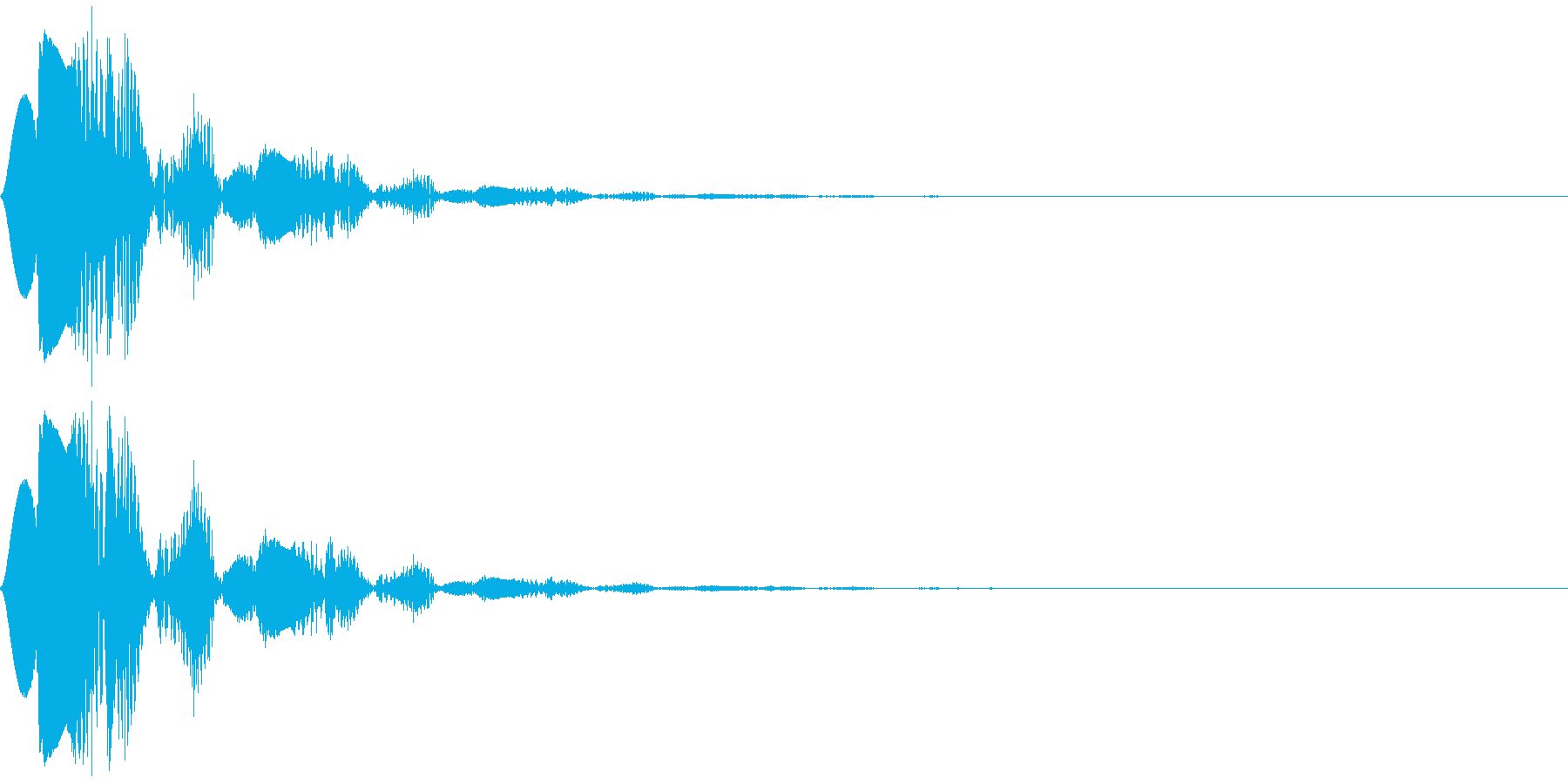 ポヨン♪ 柔らかさや弾力をイメージした音の再生済みの波形