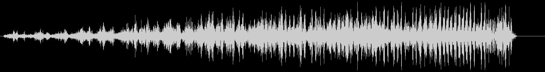 シャララ系アップ(速くなる)の未再生の波形
