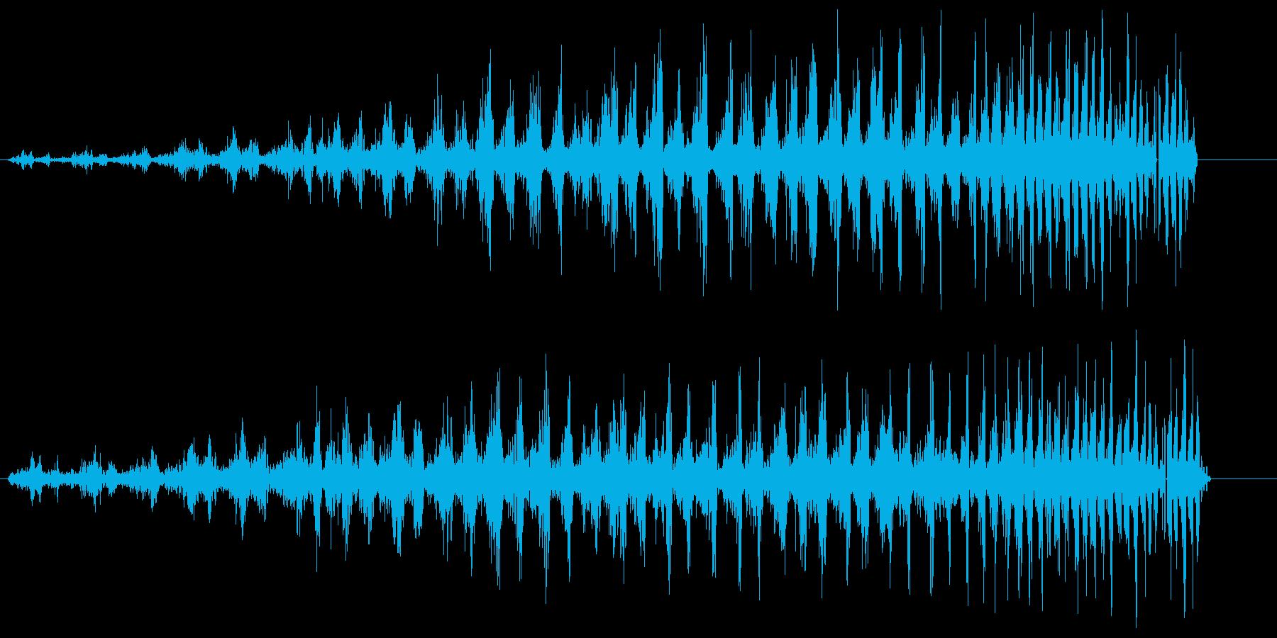 シャララ系アップ(速くなる)の再生済みの波形