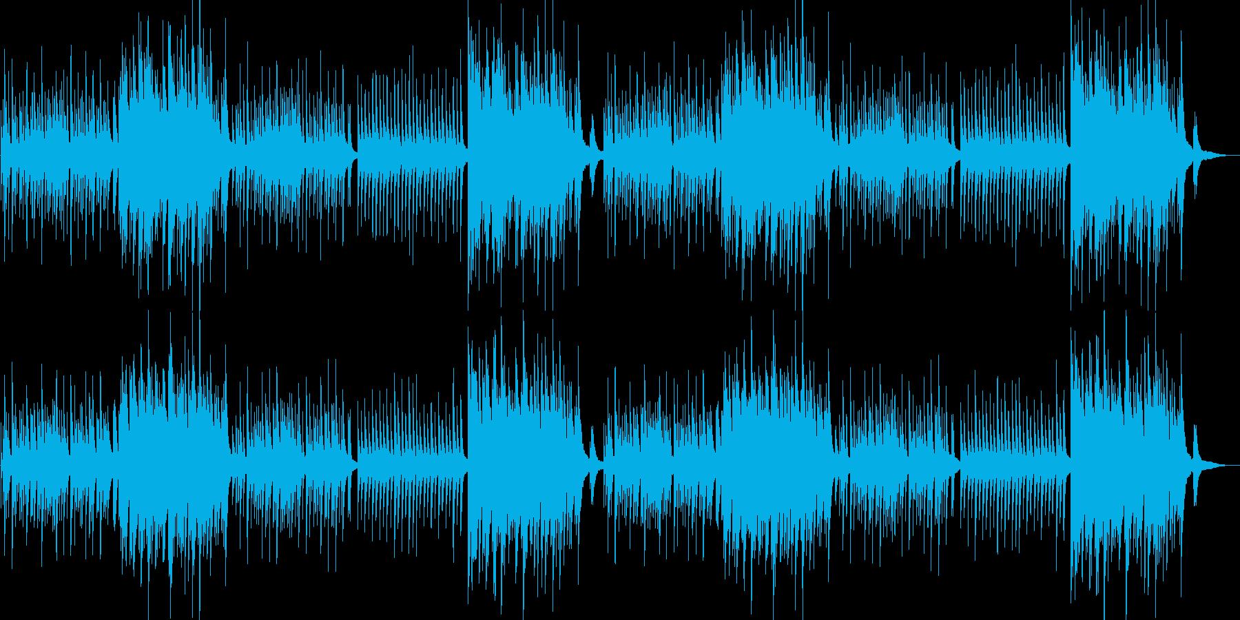穏やかで美しく切ないピアノソロ曲の再生済みの波形