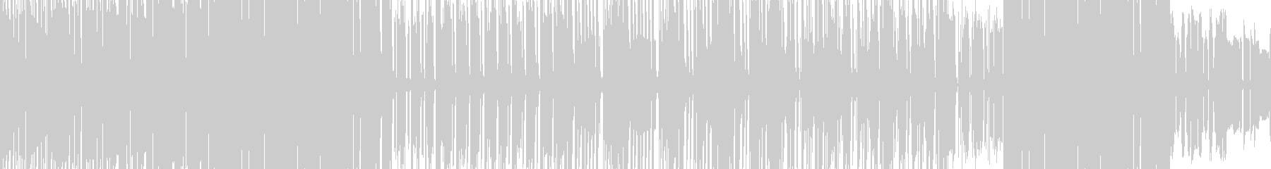 オフビート感の漂うエキゾチックなファンクの未再生の波形