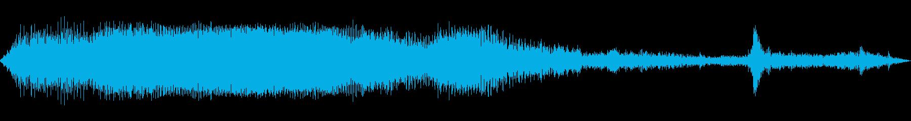 INT:リバース、ストップの再生済みの波形