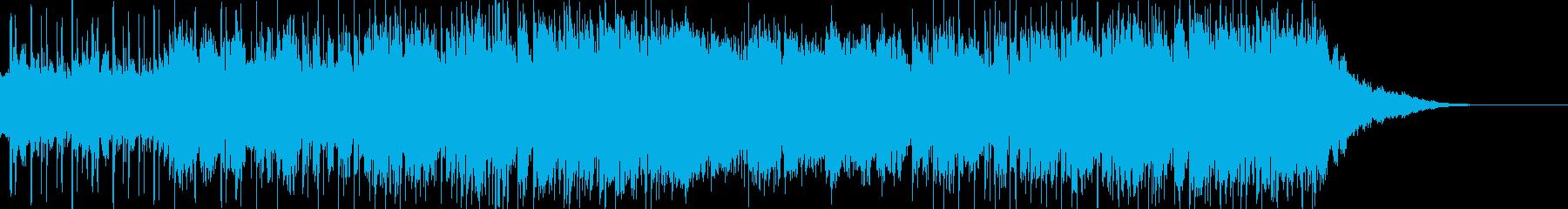 しっとりとしたバラードの曲の再生済みの波形