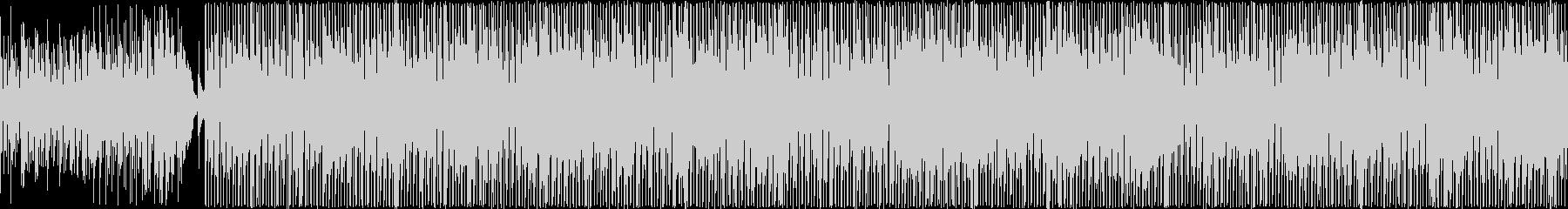 アコギによる軽快で明るい旋律の曲の未再生の波形