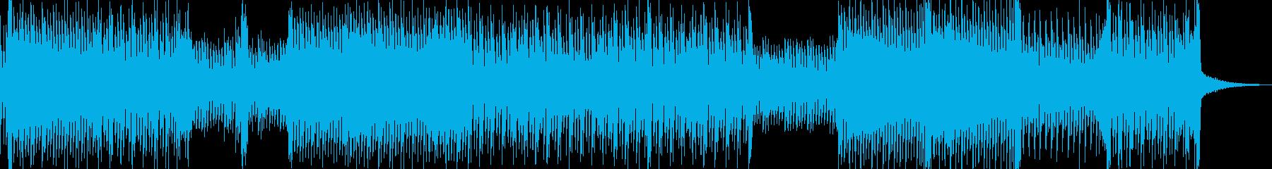 幻想的なハウス寄りの高速テクノの再生済みの波形