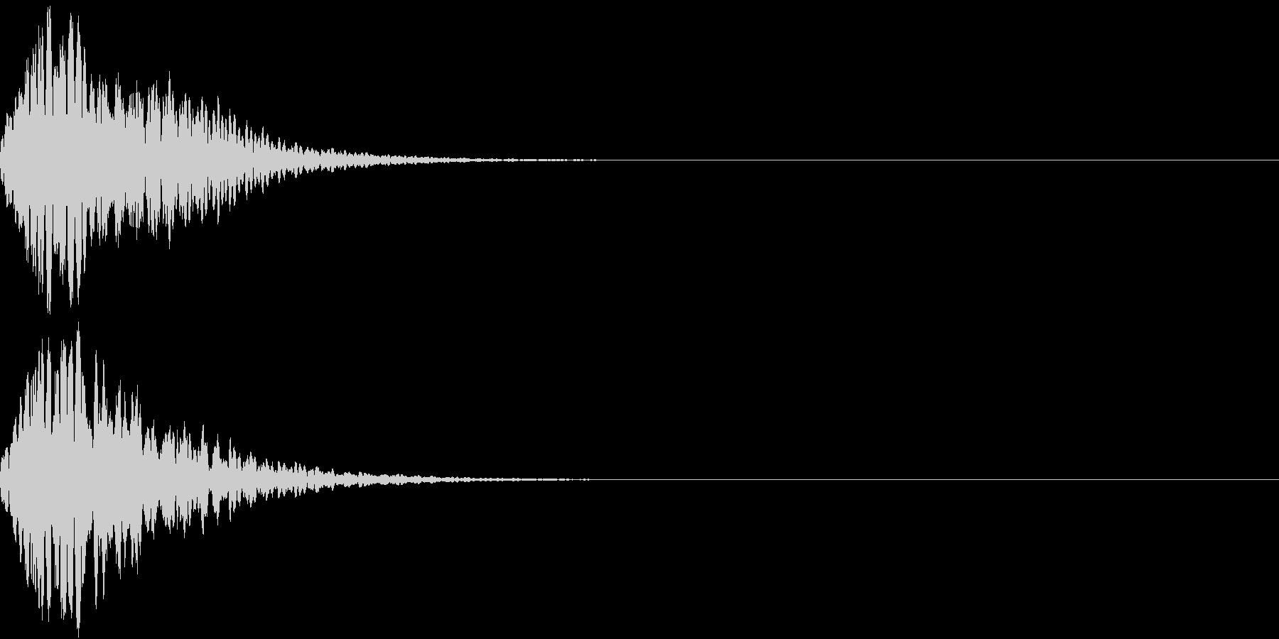 キュイン 光 ピカーン フラッシュ 12の未再生の波形