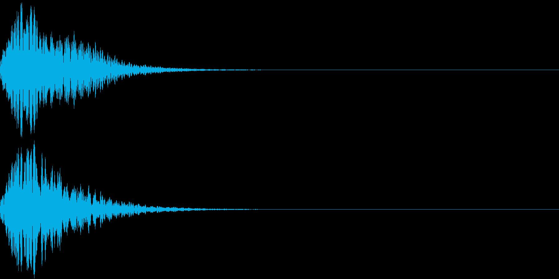 キュイン 光 ピカーン フラッシュ 12の再生済みの波形