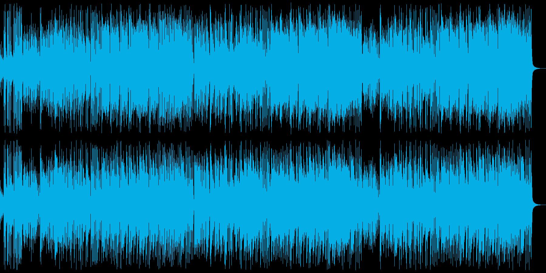 楽しげに弾むジャズ・ビッグバンド楽曲の再生済みの波形